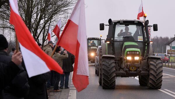 Protestations des fermiers polonais - Sputnik France