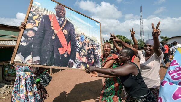 Soutien à Laurent Gbagbo après l'annonce de son acquittement par la CPI le 15 janvier 2019, Côte d'Ivoire - Sputnik France