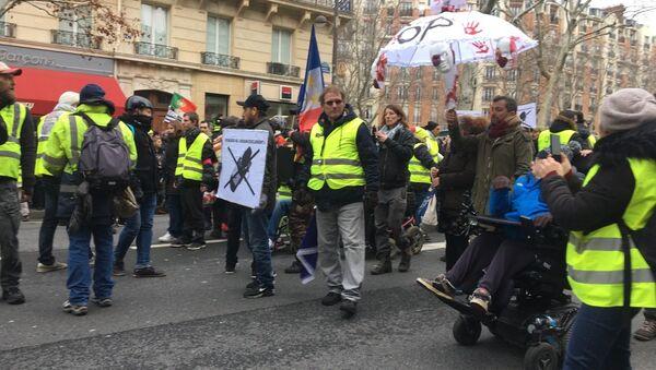 L'acte 12 à Paris de Gilets jaunes, le 2 février 2019 (image d'illustration) - Sputnik France