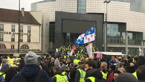 L'acte 12 des Gilets jaunes à Paris, le 2 février 2019 - Sputnik France