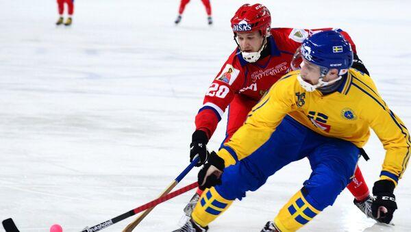 Un match Russie-Suède en championnats du monde de bandy - Sputnik France