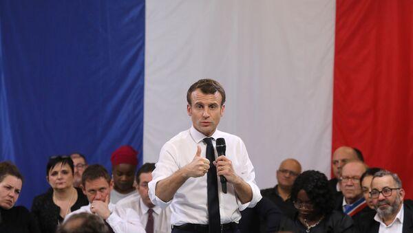Emmanuel Macron à Courcouronnes - Sputnik France