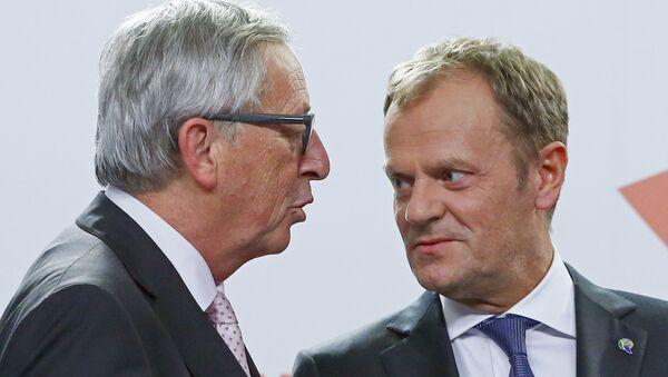 Jean Claude Juncker et Donald Tusk - Sputnik France
