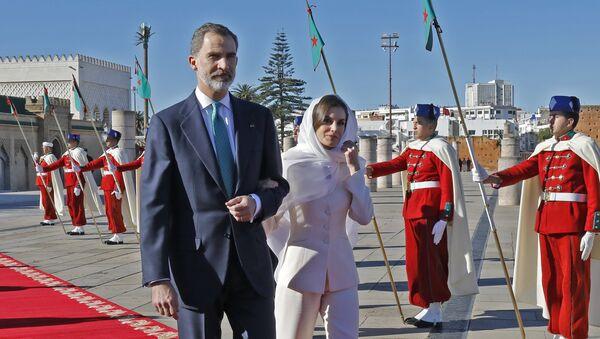 Le roi d'Espagne Felipe VI et son épouse Letizia Ortiz au Maroc - Sputnik France