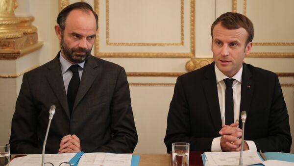 Edouard Philippe et Emmanuel Macron - Sputnik France
