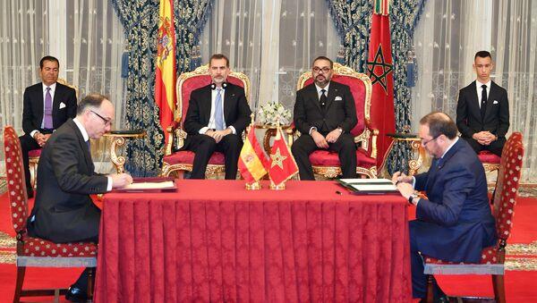Le roi d'Espagne Felipe VI au Maroc - Sputnik France