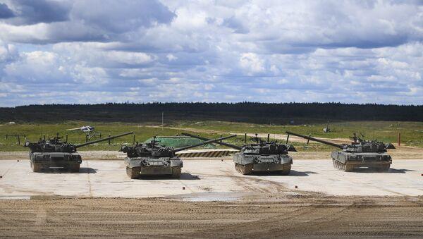 Des chars T-90 (image d'illustration) - Sputnik France