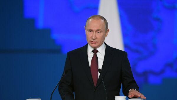 Vladimir Poutine prononce son adresse au parlement russe, le 20 février 2019 - Sputnik France