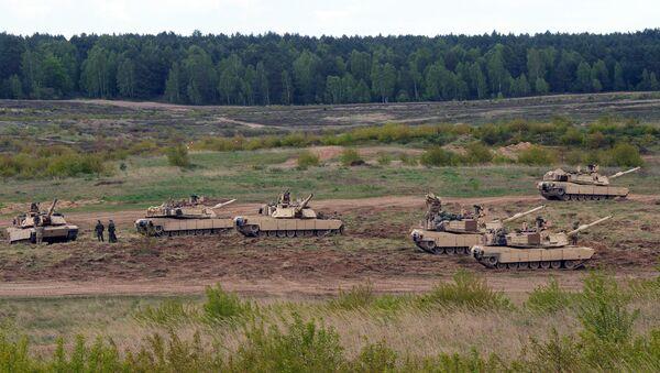 US troops with Abrams tanks. Poland (File) - Sputnik France