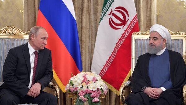 Vladimir Poutine et Hassan Rohani - Sputnik France