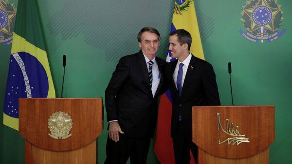 Juan Guaido et Jair Bolsonaro à Brasilia - Sputnik France
