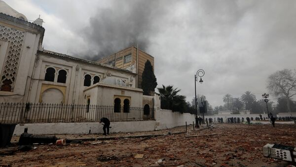 The National Museum of Antiquities and Islamic Art is seen during clashes between anti-riot police and protesters against President Abdelaziz Bouteflika, in Algiers - Sputnik France
