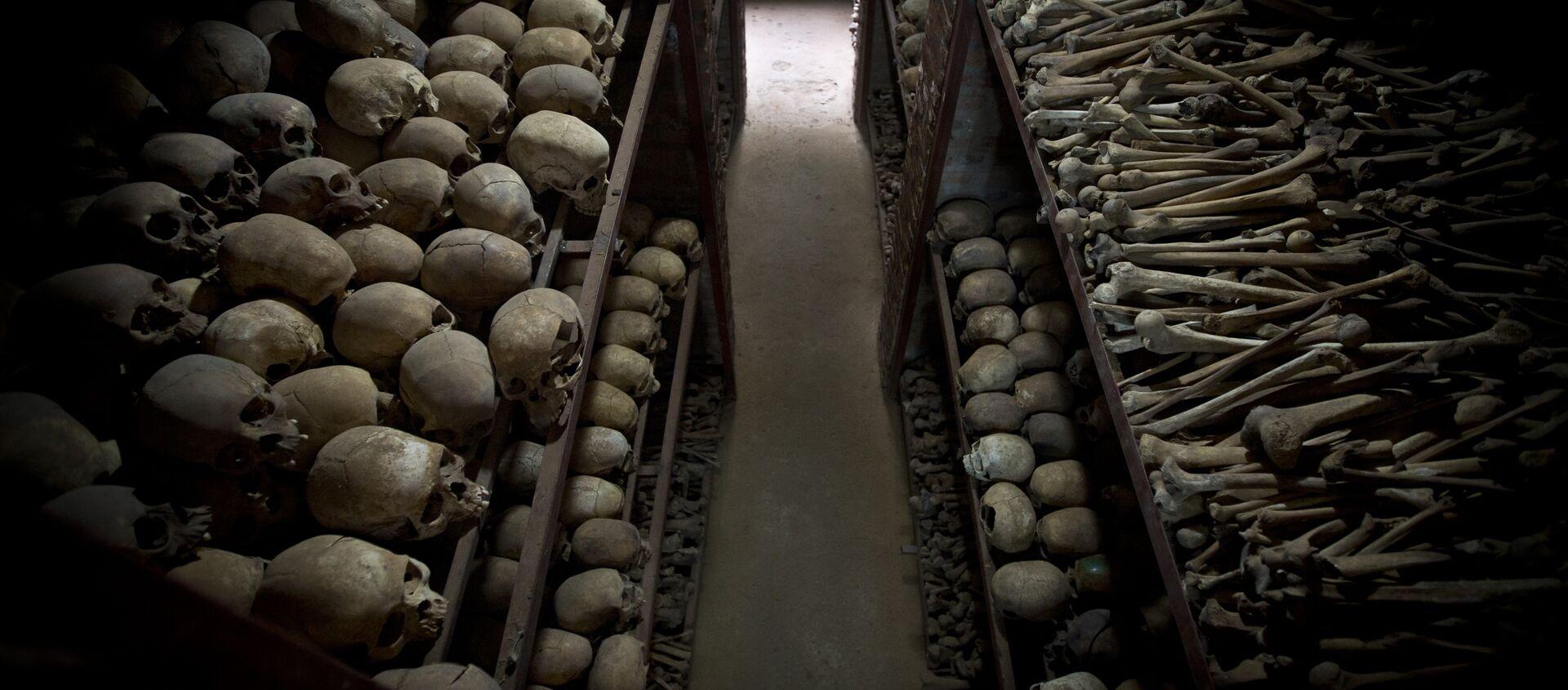 Crânes de Rwandais massacrés en 1994 - Sputnik France, 1920, 29.03.2021