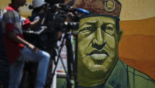 Graffiti de l'ancien président du Venezuela Hugo Chavez - Sputnik France