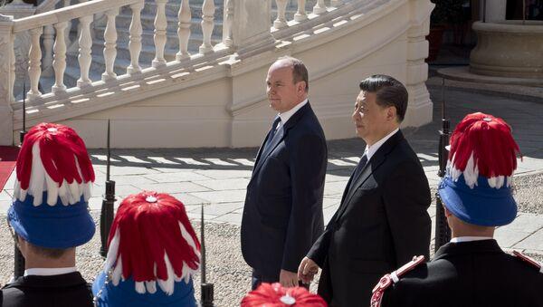 Xi Jinping et le Prince Albert II à Monaco - Sputnik France