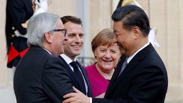 Emmanuel Macron, Angela Merkel, Jean-Claude Juncker et Xi Jinping - Sputnik France