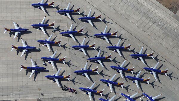 Des Boeing 737 Max à l'aéroport de Victorville, en Californie - Sputnik France
