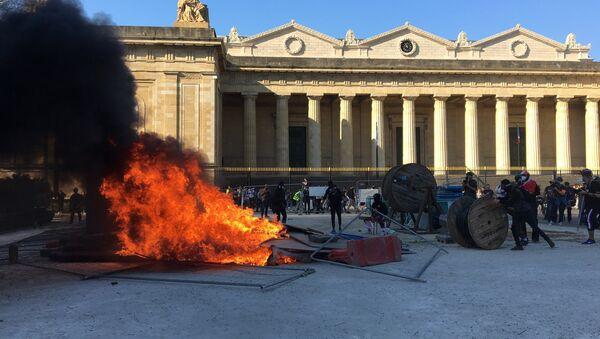 Place de la République à Bordeaux lors de l'acte 20 des Gilets jaunes - Sputnik France