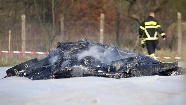 Le lieu du crash d'un jet privé EPIK en Allemagne - Sputnik France
