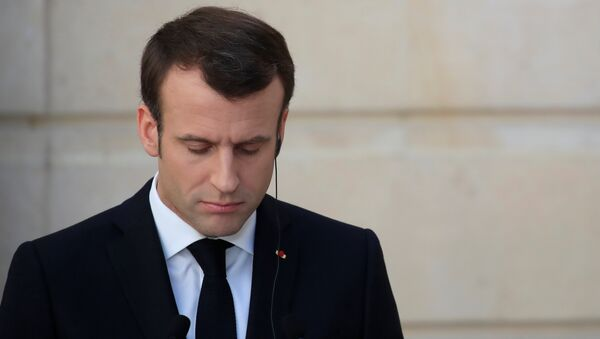 Emmanuel Macron à une conférence de presse - Sputnik France