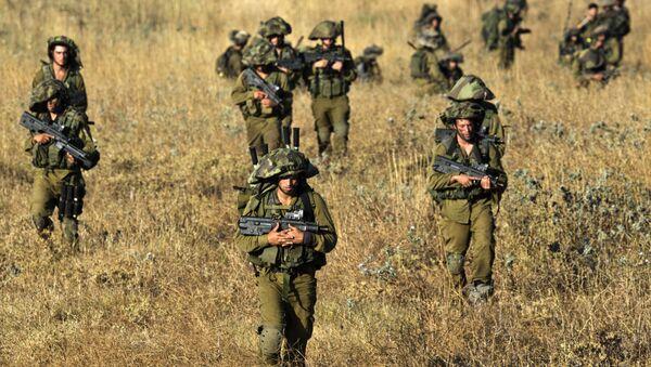 des soldats israéliens en exercice sur les hauteurs du Colan occupées - Sputnik France