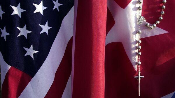 Drapeaux des USA et de Cuba - Sputnik France