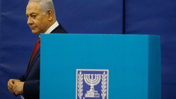 Benyamin Netanyahou vote aux élections au Parlement - Sputnik France
