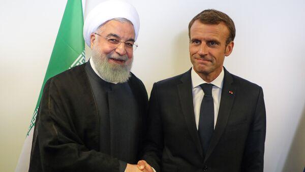 Hassan Rohani et Emmanuel Macron - Sputnik France