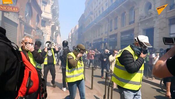 L'acte 22 des Gilets jaunes à Toulouse - Sputnik France