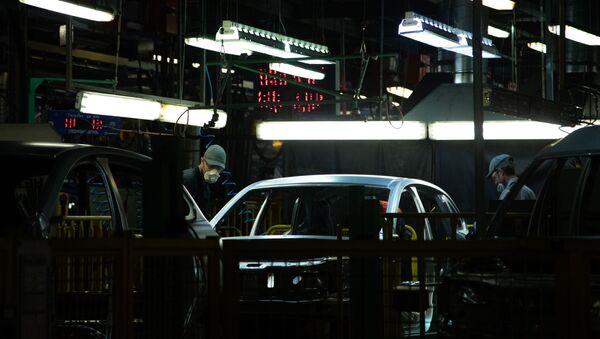 Production de véhicules du constructeur russe AVTOVAZ (photo d'archive) - Sputnik France