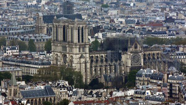 La cathédrale Notre-Dame de Paris après l'incendie - Sputnik France