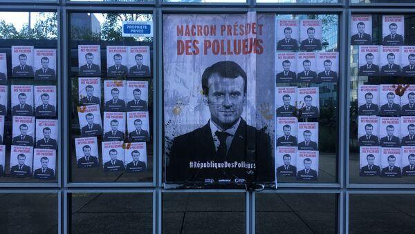 Un rassemblement contre les politiques du gouvernement en matière d'écologie, près de Total, le 19 avril 2019 - Sputnik France