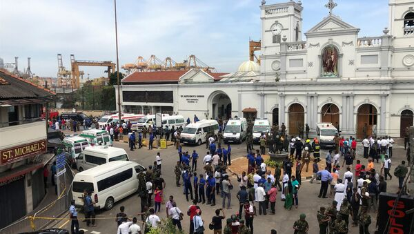 Militares cerca de la iglesia de San Antonio de Kochchikade en Colombo, Sri Lanka - Sputnik France