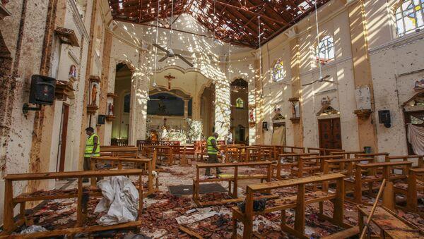 L'église Saint-Sébastien endommagée par l'explosion à Negombo, au nord de Colombo - Sputnik France
