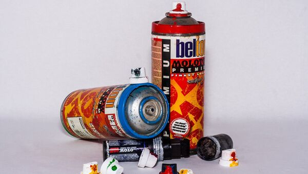 Bombes de peinture (image d'illustration) - Sputnik France