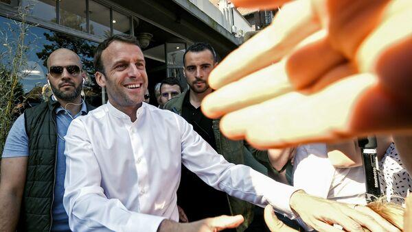 Emmanuel Macron au Touquet le 21 avril 2019 - Sputnik France
