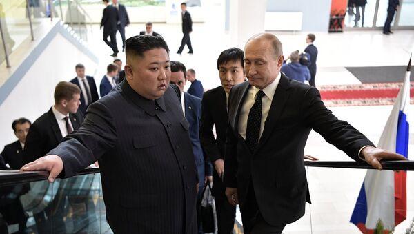Президент РФ В. Путин встретился с лидером КНДР Ким Чен Ыном - Sputnik France