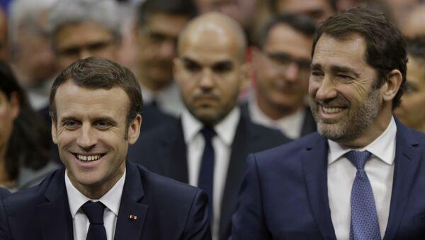 Emmanuel Macron et Christophe Castaner - Sputnik France