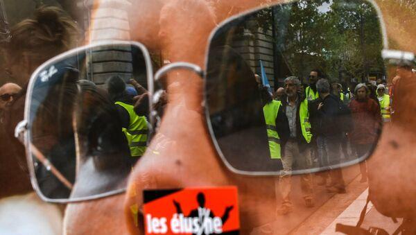 Les Gilets jaunes lors de l'acte 24 à Paris (image d'illustration) - Sputnik France