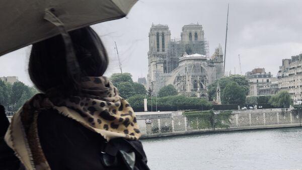 La vue de Notre-Dame de Paris après l'incendie du 15 avril 2019 - Sputnik France