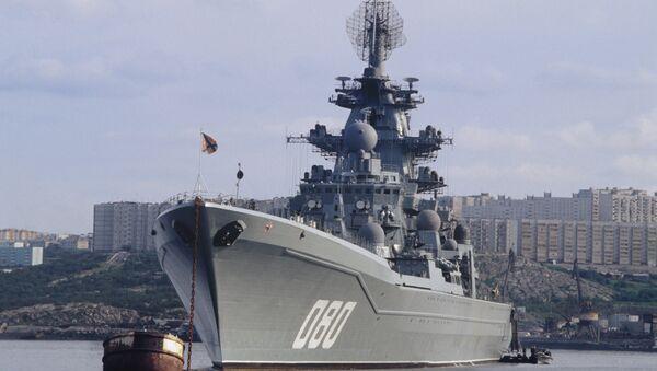 Le croiseur lance-missiles russe Amiral Nakhimov - Sputnik France