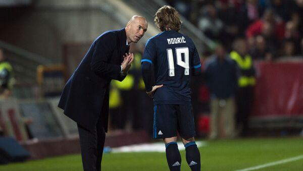 Zinédine Zidane et Luka Modric - Sputnik France