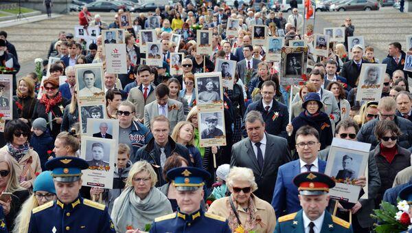 Le Régiment immortel à Varsovie - Sputnik France