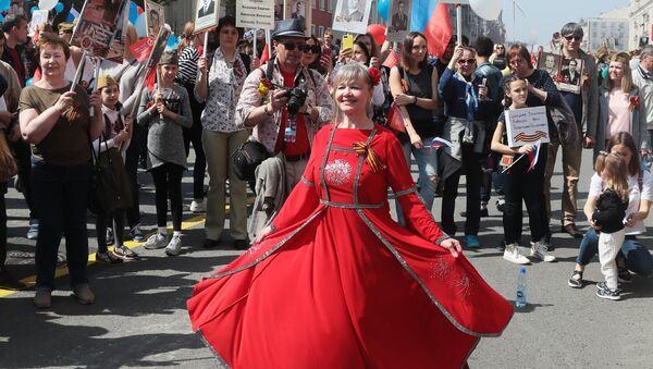 La marche du Régiment des immortels à Moscou - Sputnik France