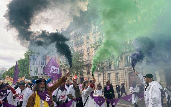 Manifestation syndicale à Paris, le 9 mai 2019 - Sputnik France