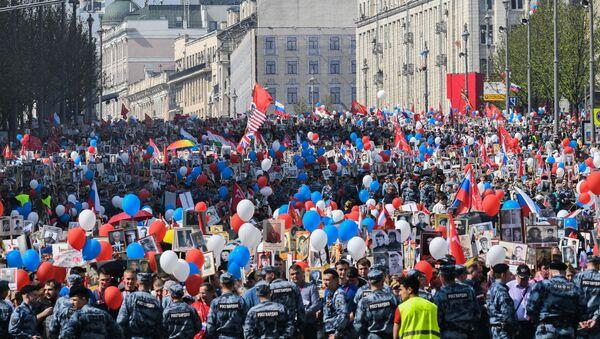 Marche du Régiment des immortels à Moscou (9 mai 2019) - Sputnik France