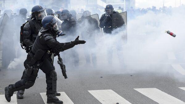 Des gendarmes lors de l'acte 26 de la mobilisation des Gilets jaunes à Nantes - Sputnik France