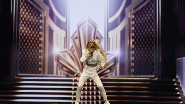 Bilal Hassani représentant la France lors de l'Eurovision 2019 - Sputnik France
