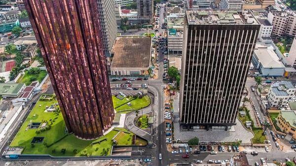 Une vue aérienne du Plateau, quartier des affaires d'Abidjan - Sputnik France