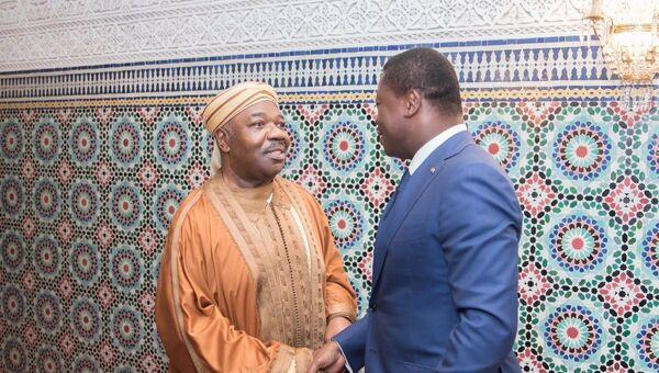 Ali Bongo et Faure Gnassingbé à Libreville le 7 mai. - Sputnik France